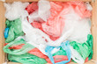 Leinwandbild Motiv Disposable plastic bags