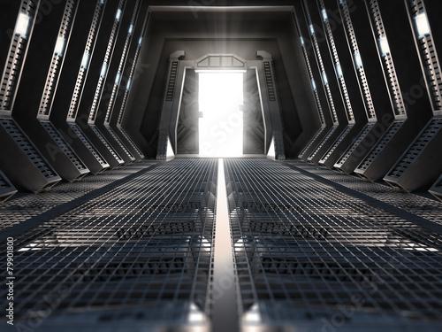 Leinwanddruck Bild Futuristic interior
