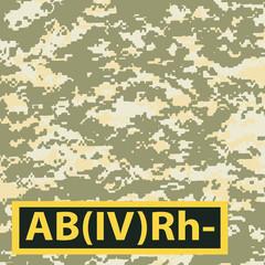 Badge AB blood group Rh-negative