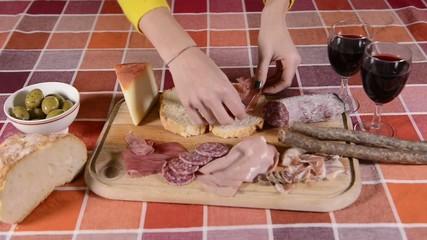 Preparing food in Tuscany