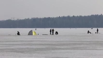 Fishermen catch fish