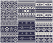 Set of 6 Ethnic vector seamless patterns - 79902800