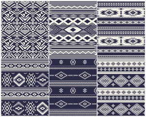 Set of 6 Ethnic vector seamless patterns