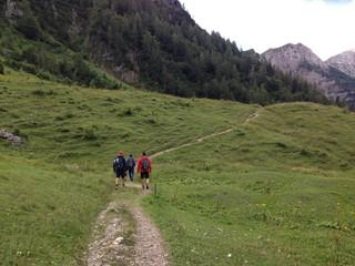 Camminata in montagna