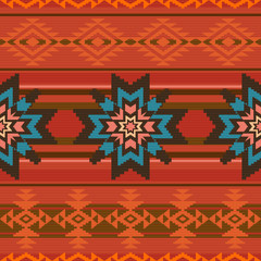 Traditional textile pattern in ethnic style