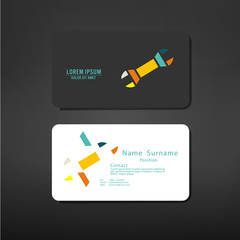 business cards creative template lay out with technician symbol