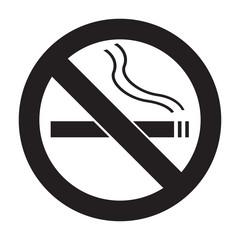 Icon no smoking flat vector