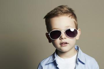 child in sunglasses.stylish little boy.fashion child