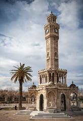 Konak Square view with old clock tower, Izmir, Turkey