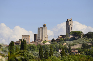 Italy, medieval towers of San Gimignano