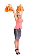 Beautiful woman with shopping bags.