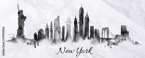 Silhouette ink New york - 79904426