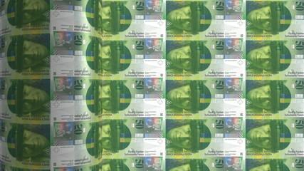 swiss franc printing