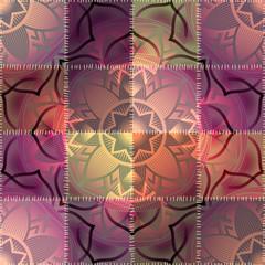 Mandala pattern on patchwork background
