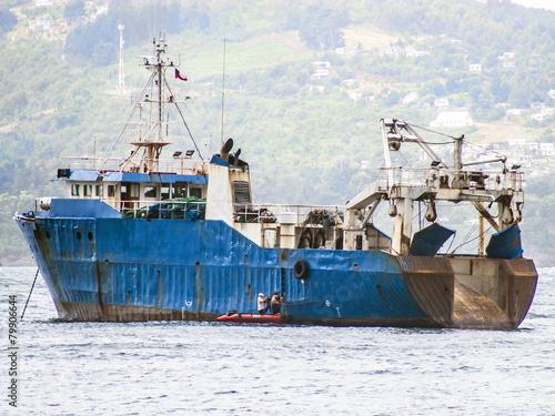 Leinwandbild Motiv Hochseefischer, Trawler