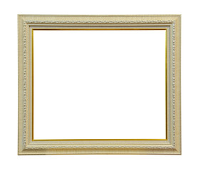 White wooden photo frame