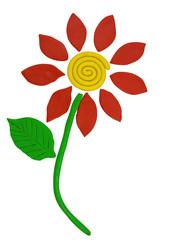 Plasticine flower