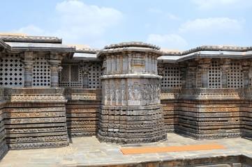 Hoysaleshwara Hindu temple, Halebid, India