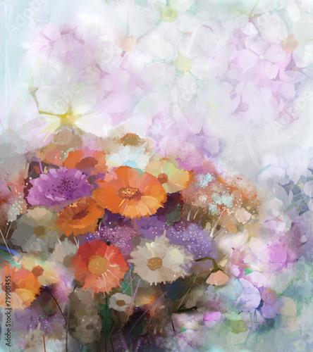 Plakat Bouquet flower oil painting