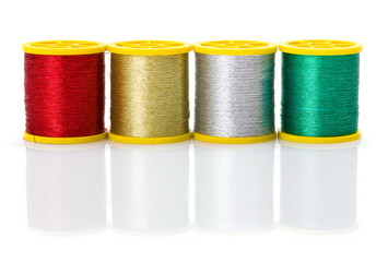 Colorful metallic threads