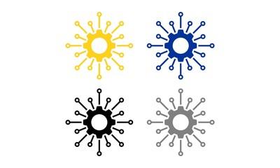 Gear Tech Wire Logo Template