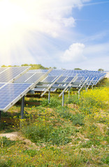 landscape with solar panel