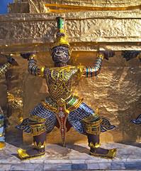 guardian statue at the Royal Palace in Bangkok