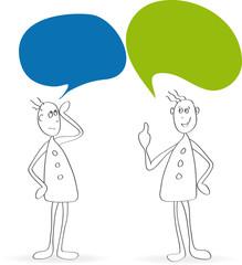 Kommunizierende Figuren - Vektor