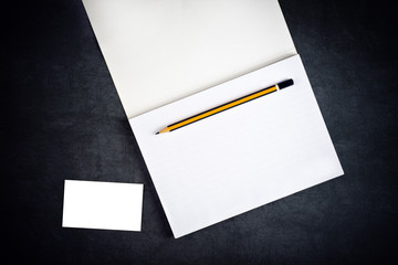 Blank Corporate Business Card and Notebook for Branding