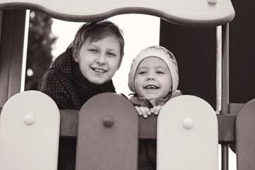 children on the playgorund