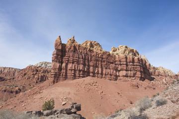 Rocky outcrop in New Mexico high desert