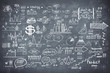 Blackboard chalkboard texture infographics collection hand drawn