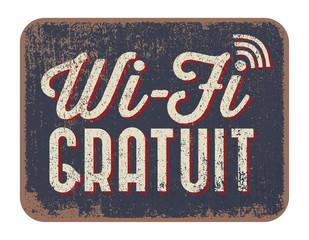 Panneaux - Wi-Fi gratuit