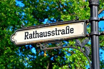 Signpost in Berlin, Germany.