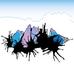 Abstract mountains for your design
