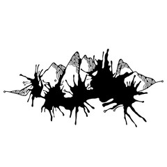 Abstract monochrome mountains for your design