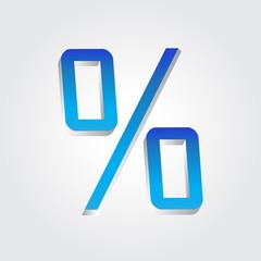 Percent Sign 3D Sale