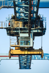 Shore crane loading containers