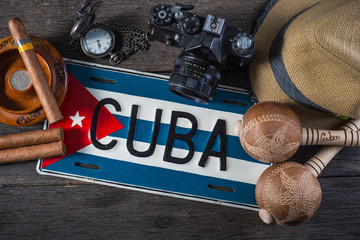 Travel to Cuba, vintage items overhead