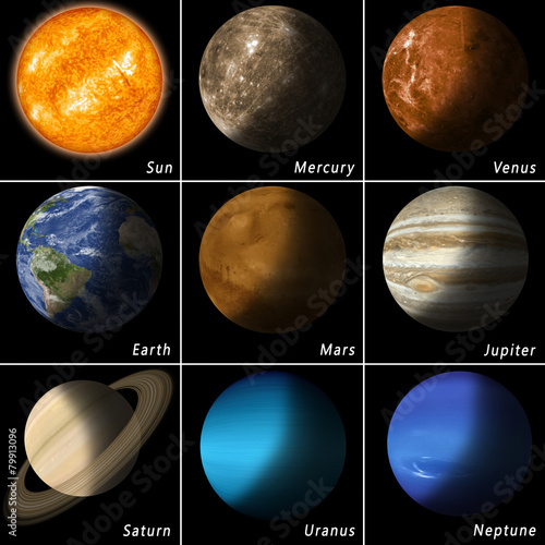 Plexiglas Ruimtelijk Solar System