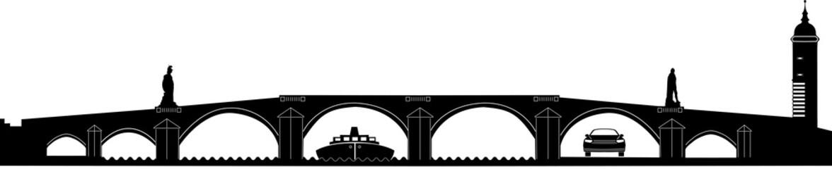 Heidelberg - Alte Brücke - Silhouette  v.2