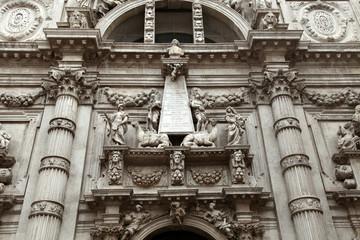 Facade of church San Moise in Venice, Italy