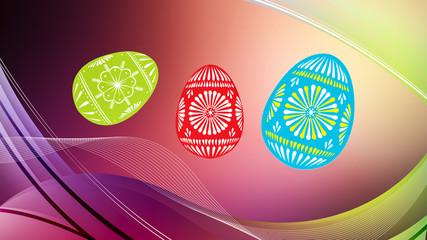 Иллюстрация красивые пасхальные яйца