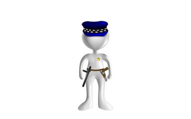 MONIGOTE 3D POLICIA