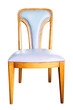 blue chair isolated with clipping path