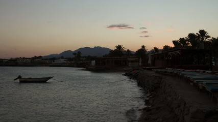 HD time lapse video of sunset in Dahab, Red Sea, Egypt.