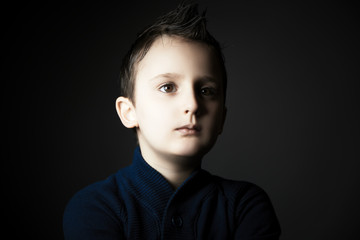 Beauty portrait of handsome kid