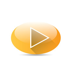 Orange Play button . vector illustration