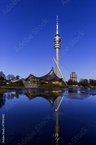 Leinwanddruck Bild Olympiaturm