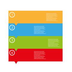 empty color web tags with arrows vector